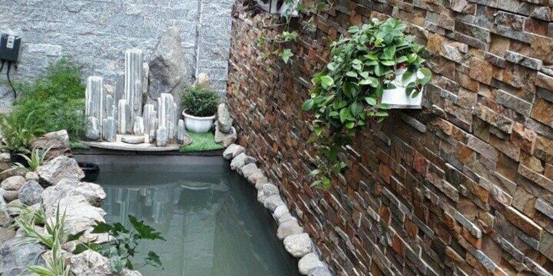 Sử dụng đá tự nhiên ghép vàng slate trong trang trí nội ngoại thất- Địa chỉ mua đá tự nhiên giá rẻ ở Hà Nội