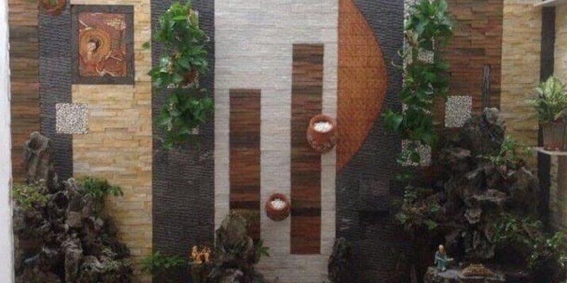 Đá tự nhiên răng lược đen ốp tường trang trí tranh đá, tiểu cảnh, thác nước cho không gian thêm phần ấn tượng