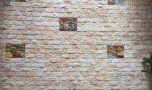 Đá bóc lồi hồng 10x20cm ốp tường trang trí nội ngoại thất cho không gian thêm phần lãng mạn