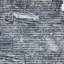 Đá chẻ sóng đen ánh kim 10x20cm-VL055