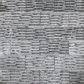Đá tự nhiên răng lược to màu đen kt 10x20cm