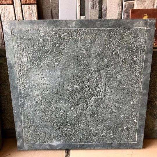 Đá băm trừ viền xanh rêu kt 30x30cm-VL169